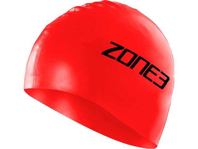 Zone3 Silicone Swim Cap red